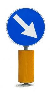 Verkeersbord rechts